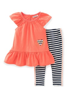 Juicy Couture Little Girls' 2 Piece Pant Set-Stripes