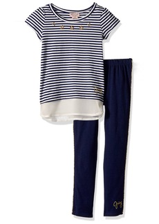 Juicy Couture Little Girls' 2 Piece Tunic Pant Set