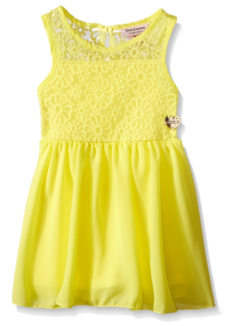 Juicy Couture Little Girls' Embroidered Mesh Georgette Dress