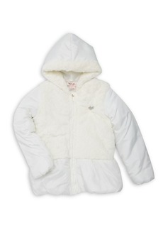 Juicy Couture Little Girl's Faux Fur Hooded Coat