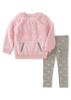 Juicy Couture Little Girls' Faux Fur Pant Sets