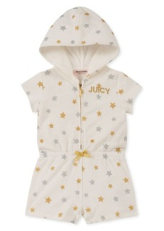 Juicy Couture Little Girl's Metallic Star Cotton Blend Hooded Romper