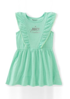 Juicy Couture Little Girls' Patterned and Solid Scuba Dress