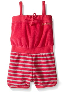 Juicy Couture Little Girls' Romper with Loop Terry