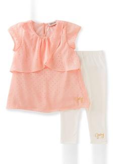 Juicy Couture Little Girls' 2 Piece Georgette Pant Set