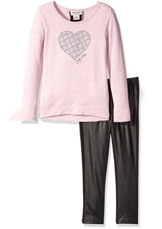 Juicy Couture Little Girls' Toddler High-Low French Terry Tunic and Pant Set