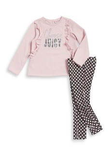 Juicy Couture Little Girl's Two-Piece Choose Juicy Top and Leggings Set