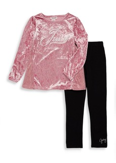Juicy Couture Little Girl's Two-Piece Crushed Velvet Tunic & Leggings Set