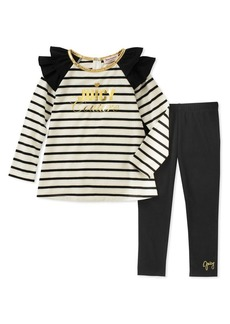 Juicy Couture Little Girl's Two-Piece Striped Tunic and Leggings Set