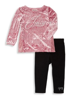 Juicy Couture Little Girl's Two-Piece Velvet Tunic & Leggings Set