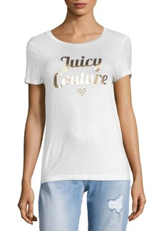 Juicy Couture Metallic Logo Short Sleeve T-Shirt