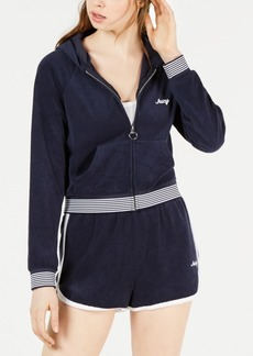 Juicy Couture Microterry Zip-Front Hoodie