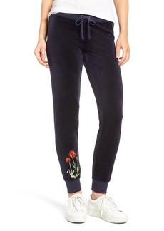 Juicy Couture Pretty Thing Zuma Velour Track Pants
