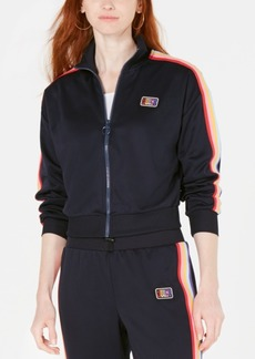 Juicy Couture Rainbow Striped Track Jacket
