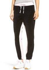 Juicy Couture Silverlake Colorblock Velour Track Pants