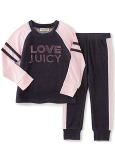 Juicy Couture Girls' Toddler Athletic Pants Set