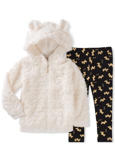 Juicy Couture Toddler Girls' Faux Fur Jacket Pant Sets