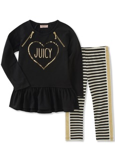 Juicy Couture Girls' Toddler Tunic Legging Set