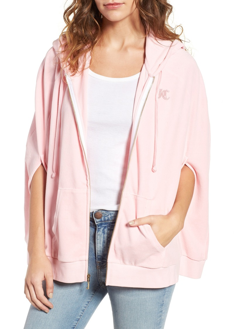 5d29a10c Juicy Couture Juicy Couture Velour Cape Hoodie | Outerwear