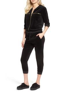 Juicy Couture Velour Crop Track Jumpsuit