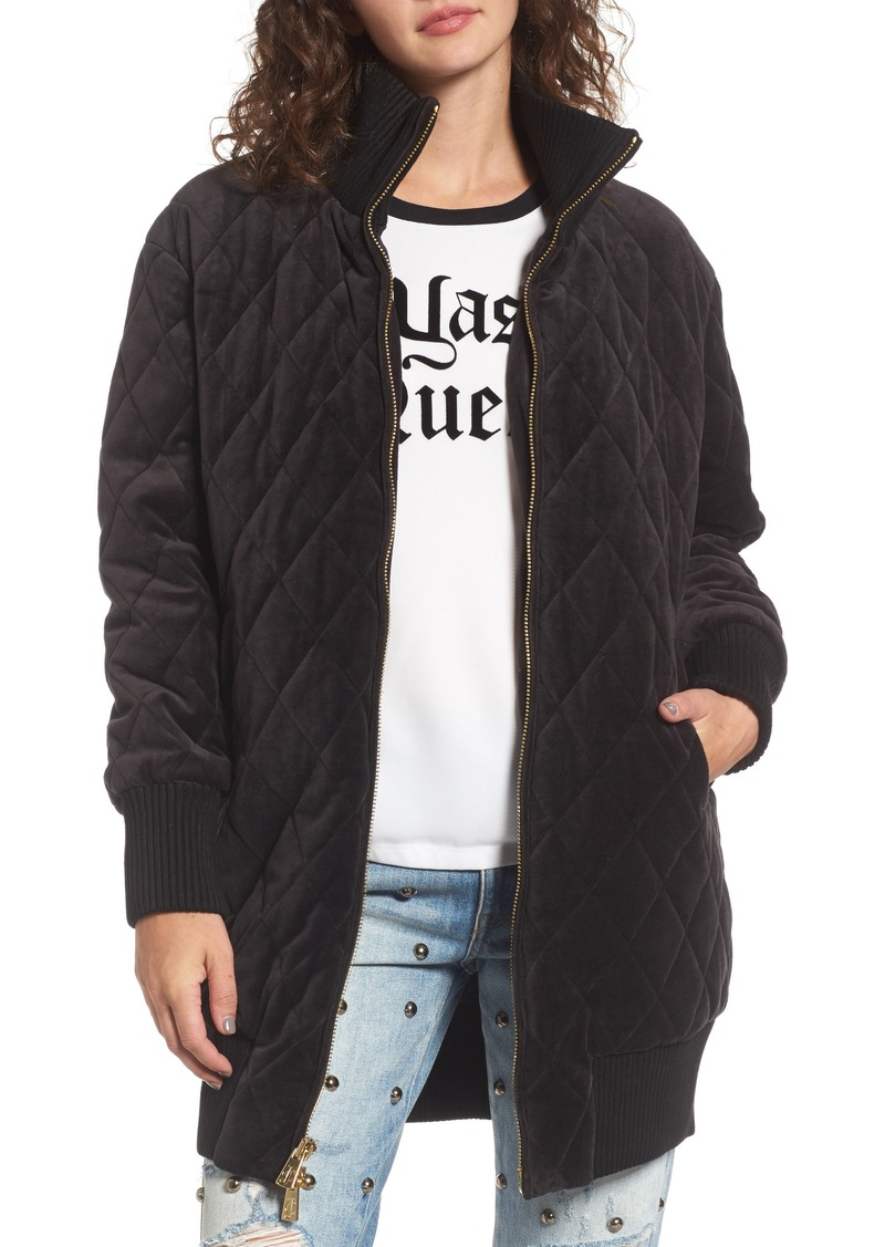 31b0356b4f Juicy Couture Juicy Couture Velour Quilted Puffer Coat