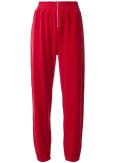 Juicy Couture Swarovski velour zip track pants - Red