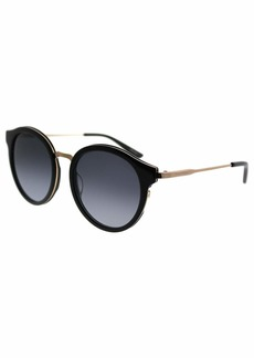 Juicy Couture Women's Ju596/s Round Sunglasses BLK Gold 52 mm