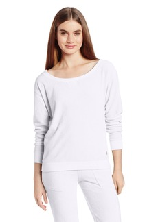 Juicy Couture Women's Micro Terry Relaxed Long Sleeve Sweatshirt