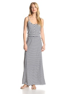 Juicy Couture Women's Micro Terry Stripe Maxi Dress