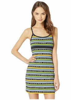 c0958e19d8 Juicy Couture Juicy Racer Stripe Logo Slip Dress