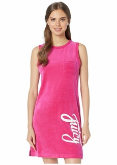 Juicy Couture Juicy Script Velour Logo Track Sleeveless Dress