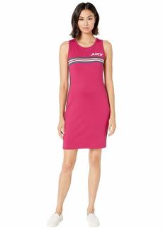 Juicy Couture Juicy Stripe Graphic Interlock Bodycon Dress