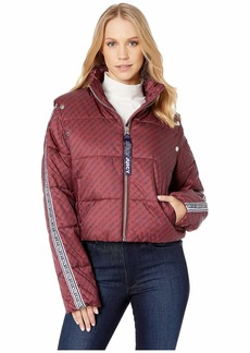 Juicy Couture JXJC Repeat Snap Off Sleeve Puffer Jacket