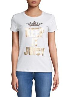 Juicy Couture Keep It Juicy Cotton Tee