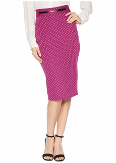 Juicy Couture Knit Cosmonaut Geo Jacquard Skirt