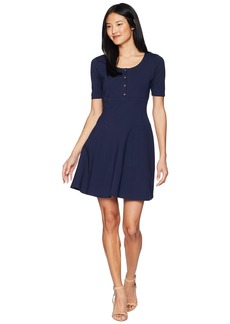 Juicy Couture Knit Fit and Flare Ponte Dress