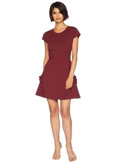 Juicy Couture Knit Flirty Ruffle Ponte Dress