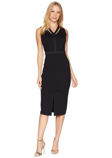 Juicy Couture Knit Ponte Midi Dress w/ Cut Out Front