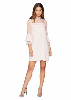 Juicy Couture Lace Mixed Ruffle Shift Dress