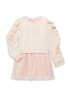 Juicy Couture Little Girl's 2-Piece Embellished Top & Skirt Set