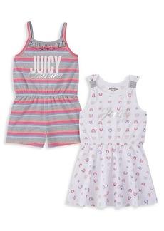 Juicy Couture Little Girl's 2-Piece Romper & Dress Set