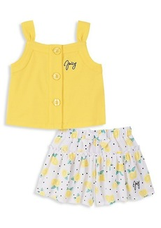 Juicy Couture Little Girl's 2-Piece Top & Print Shorts Set