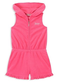 Juicy Couture Little Girl's Hooded Cotton-Blend Romper