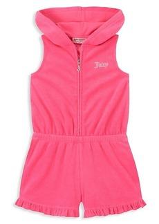 Juicy Couture Little Girl's Ruffled-Trim Romper