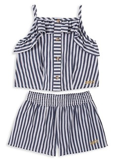 Juicy Couture Little Girl's Striped Top & Shorts 2-Piece Set