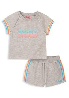 Juicy Couture Little Kid's T-Shirt & Shorts 2-Piece Set