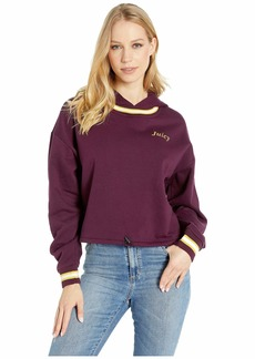 Juicy Couture Logo Detail Cinched Pullover with Hood