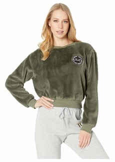 Juicy Couture Logo Patch Fur Pullover