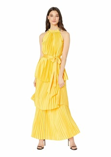 16ef9a2bff Juicy Couture Pleated Halter Maxi Dress