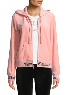 Juicy Couture Robertson Zip-Front Hooded Velour Jacket